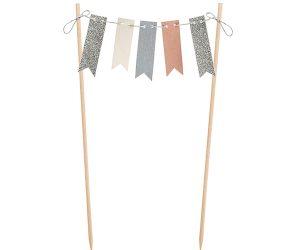 Guirnalda de banderines para decoración de tartas
