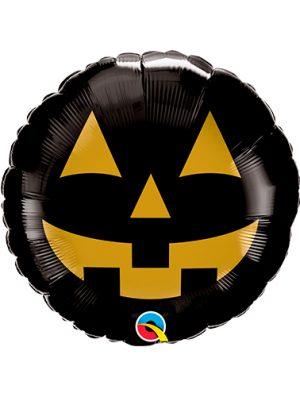 Globo metálico calabaza negra halloween