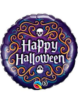 Globo metálico happy halloween