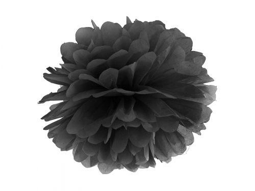 Pompon de papel color Negro