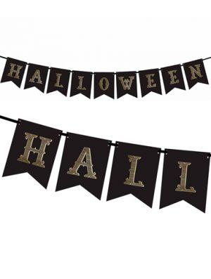Guirnalda Halloween papel negro